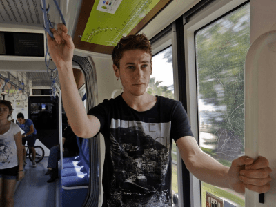 Public transportation is free in Athens this week because it's so hard to get cash