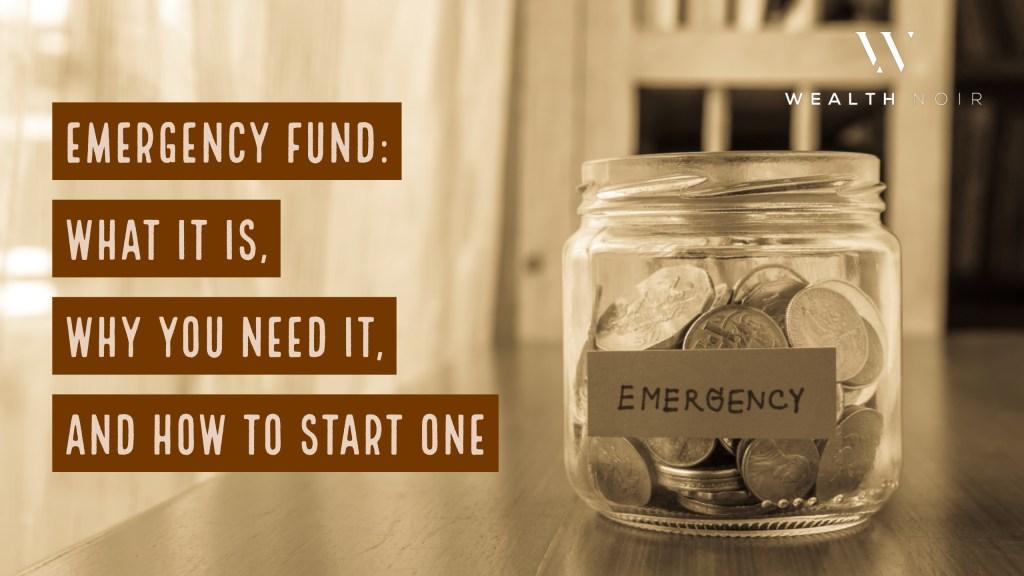 emergency fund and emergency cash
