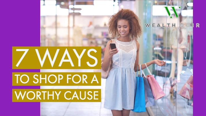 woman shopping for charity and worthy cause