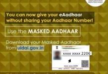 masked aadhaar