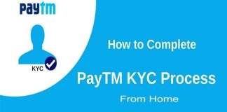Paytm full kyc at home