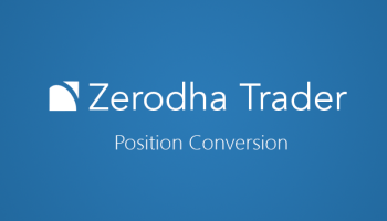 convert intraday to delivery in Zerodha