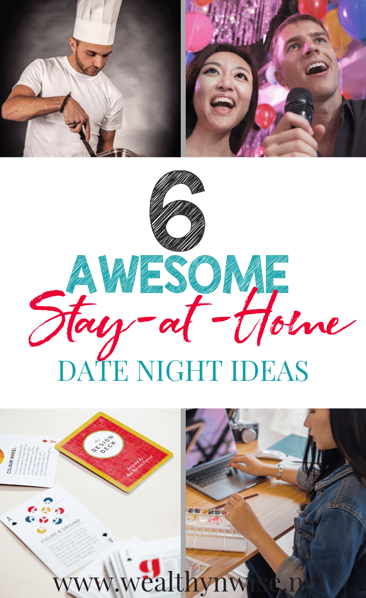 These Date Night ideas will make you WANT to Stay at Home. #Datenight #Stayathome