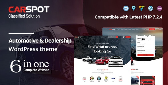 CarSpot 2.3.1 Nulled – Automotive Car Dealer WordPress Classified Theme