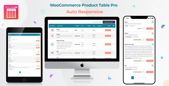 Woo Product Table Pro 7.0.7 – WooCommerce Product Table