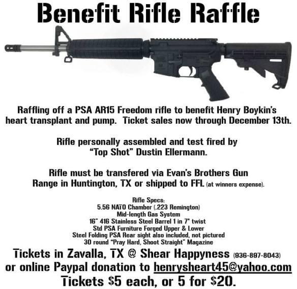 Benefit Rifle Raffle