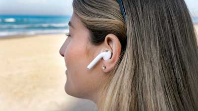 wireless earbuds in ear