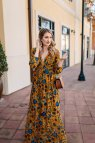 Printed Fall Maxi Dress Wear &