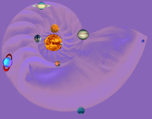 Golden Spiral in the cosmos