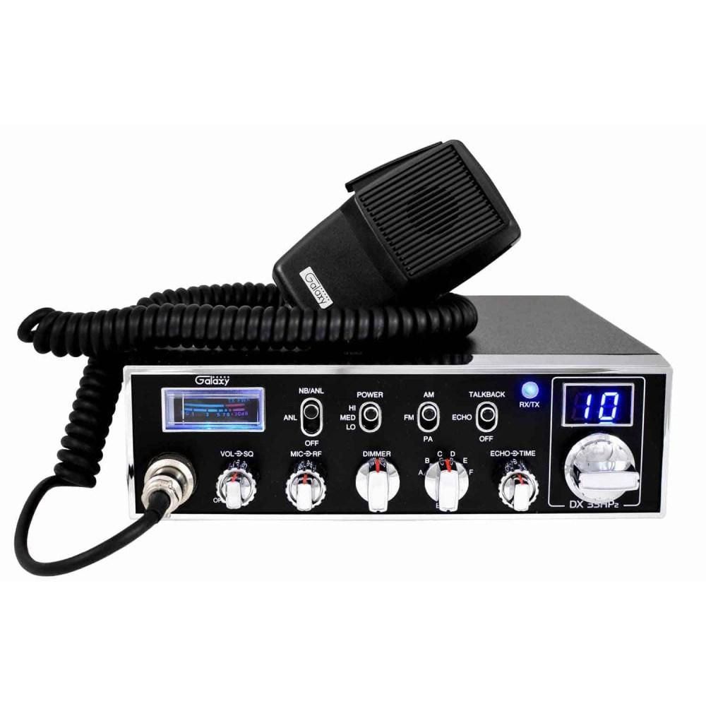 medium resolution of dx33hp2 galaxy 45 watt 6 band 10 meter mobile radio