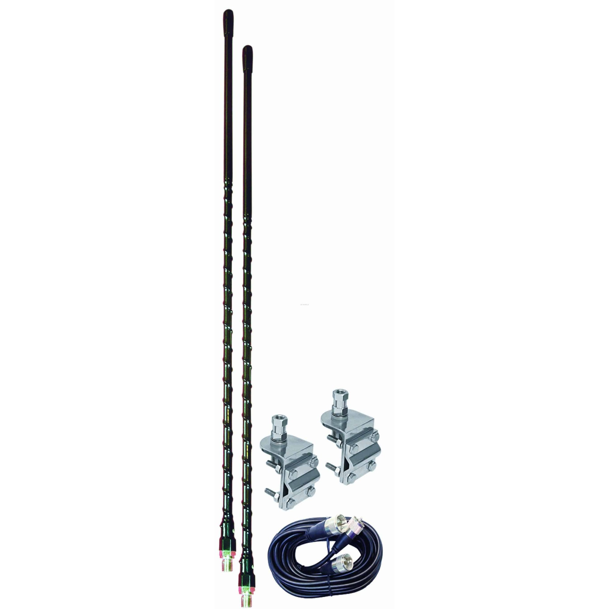 hight resolution of aumm23 b 3 black dual cb antenna kit