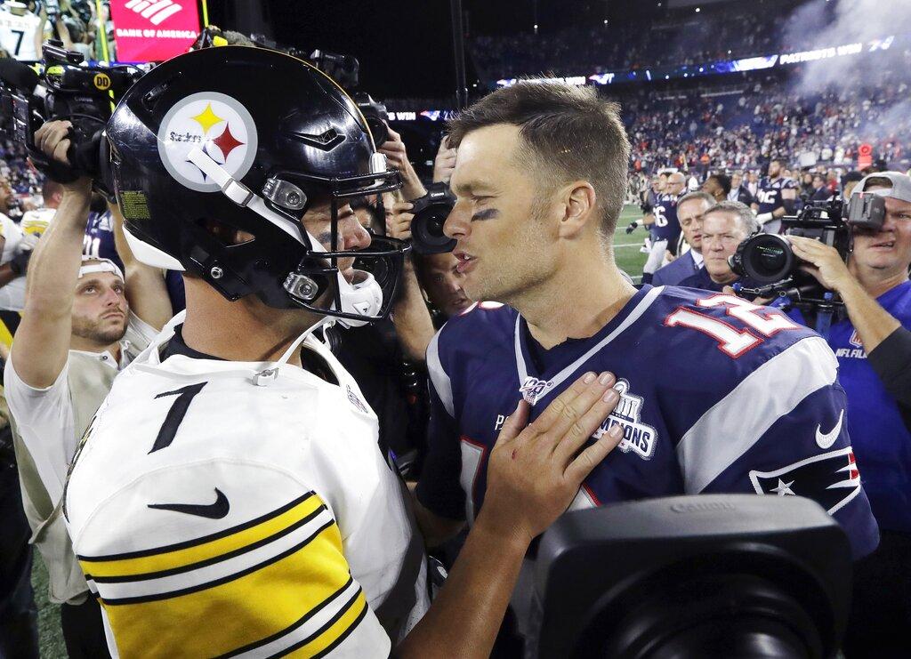 online store c00b7 cfdd7 Brady starts his 20th season by beating Steelers 33-3   WTAJ ...