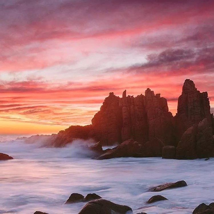 """Microadventures with @melissafindley 5/5 The Pinnacles, VIC. """"Camping overnight in the car around Phillip Island, we attempted this shot two days in a row and I'm definitely glad we did because the sky exploded with one of the best sunsets I've ever seen on that return."""" #weareexplorers"""