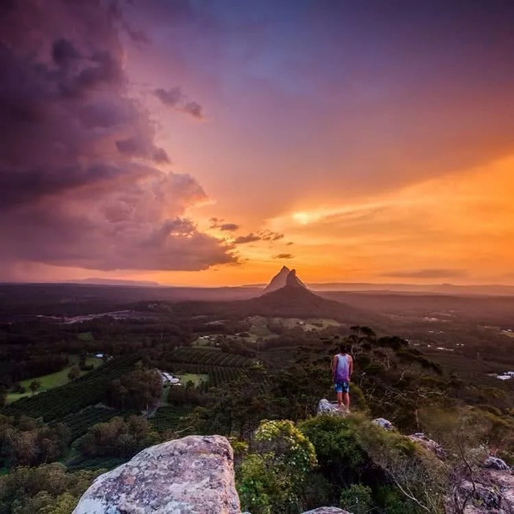 "Microadventures with @lambyyyy_ 1/5 ""Mt Ngungun summit, In the Glasshouse mountains a true favourite place of mine, and somewhere I hold very close to my heart. I've been coming to this area since I was a young kid and every time I go back i see something new."" #weareexplorers"