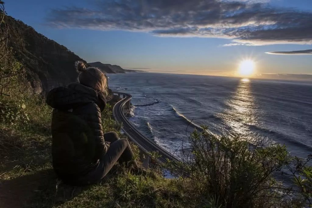 """Microadventures with @timsanders0n 2/5 """"It's just an easy 15 minute walk from the main road to view the iconic sea cliff bridge from above. Catching the sun come up from this spot or watching the stars at night is something I need to do more often."""" #weareexplorers"""