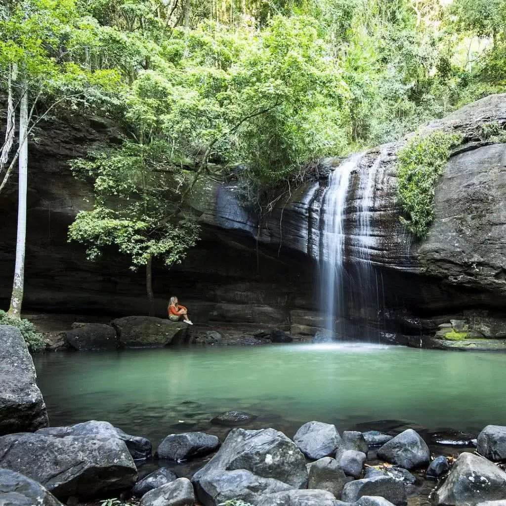 """Microadventures with @j_bonde 3/5 Buderim Falls, SE QLD """"Buderim Falls is only a 15 minute drive from where we now live. I've travelled all over the world to see amazing waterfalls and it is finally nice to have a pretty good one not too far from the back door! We waited for the crowds to leave so we could enjoy it in its peaceful best."""" #weareexplorers"""