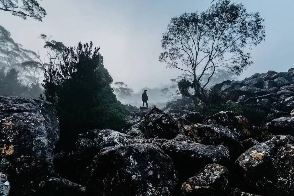 "Microadventures with @_davidsark 4/5 ""I came close to tumbling down on numerous occasions climbing these icy boulders but the soft misty light was wonderful."" #weareexplorers"