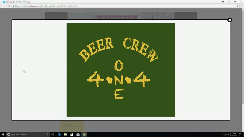 Green Bay Beer Run