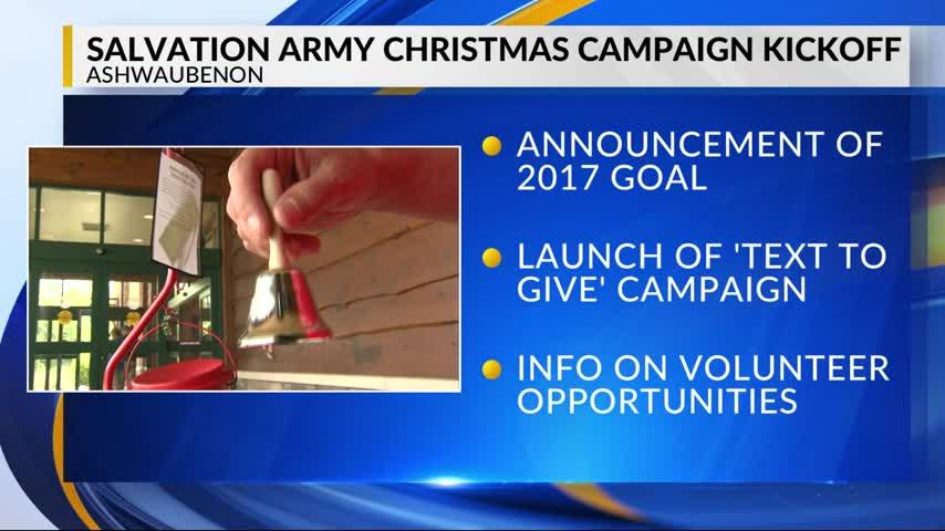 Salvation Army kicks of its holiday season on Monday