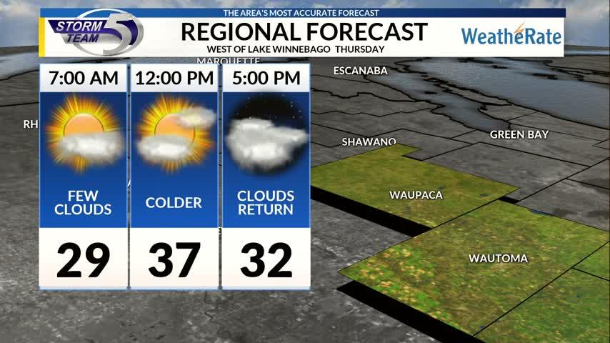 Regional Forecast: Central WI 11/16/2017