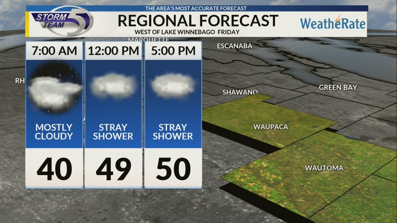 Regional Forecast: Areas West of Lake Winnebago 10/26