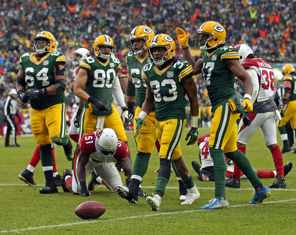 Packers Aaron Jones vs Cardinals