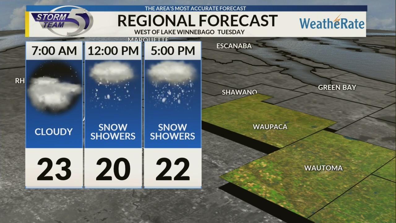Regional Forecast: Areas West of Lake Winnebago 1/22