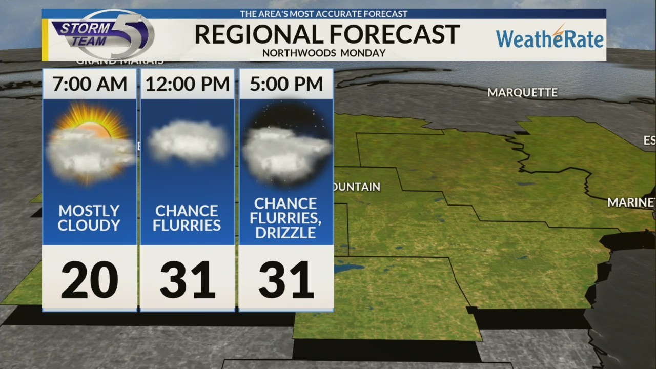 Regional Forecast: Northwoods 1/14