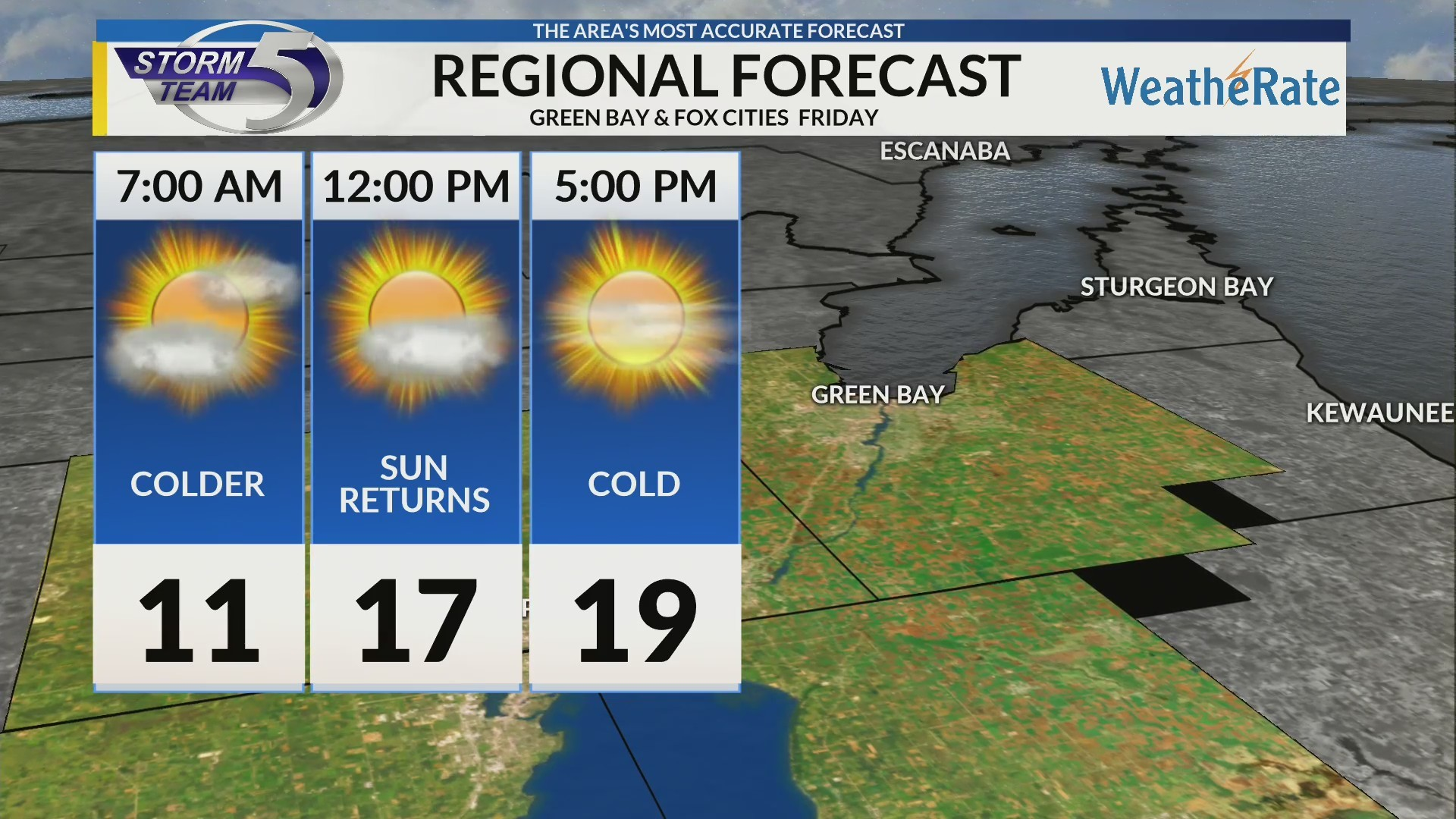 Regional Forecast: Green Bay/Valley 2/15/2019