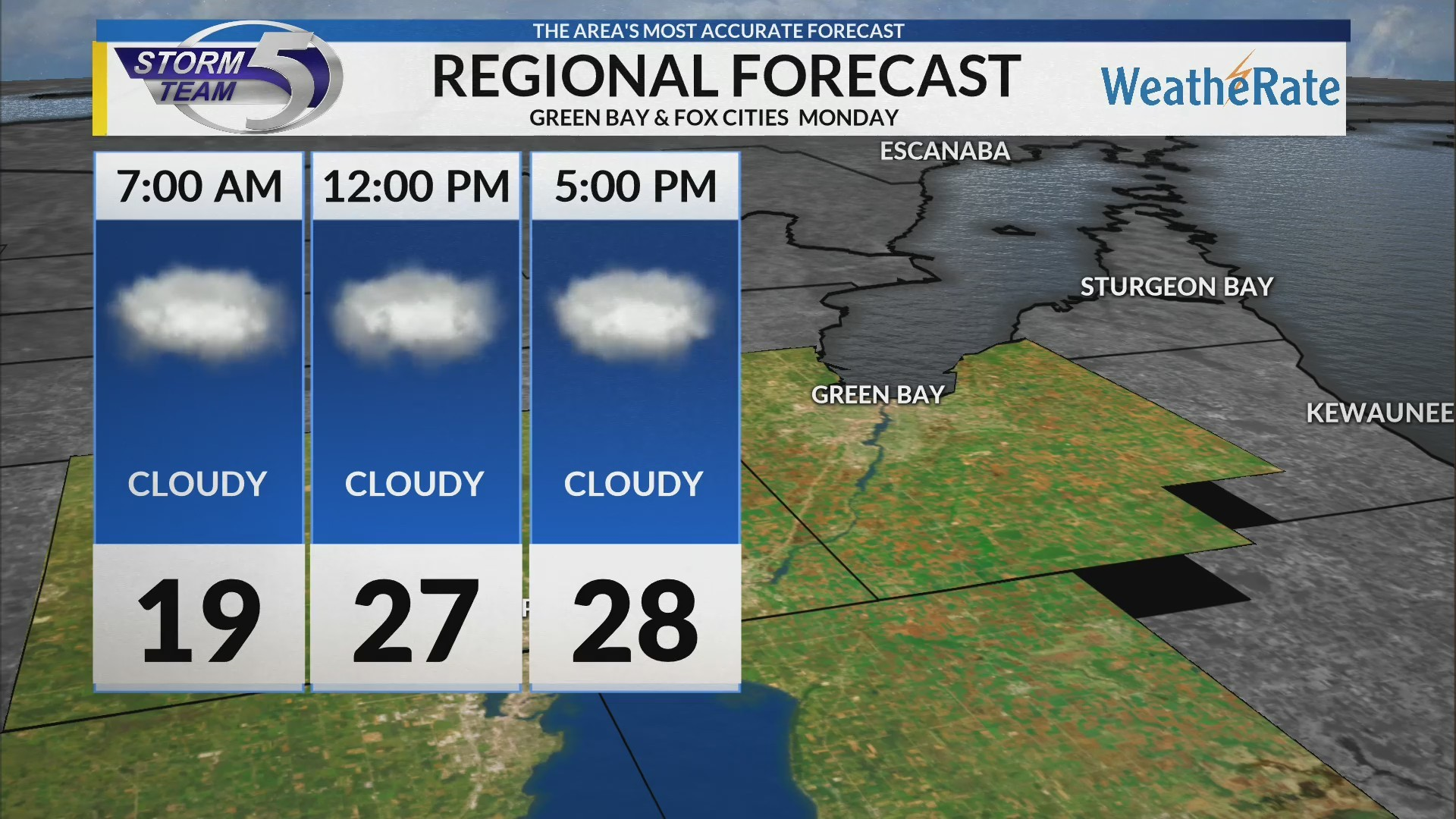 Regional Forecast: Green Bay and the Fox Cities 2-11