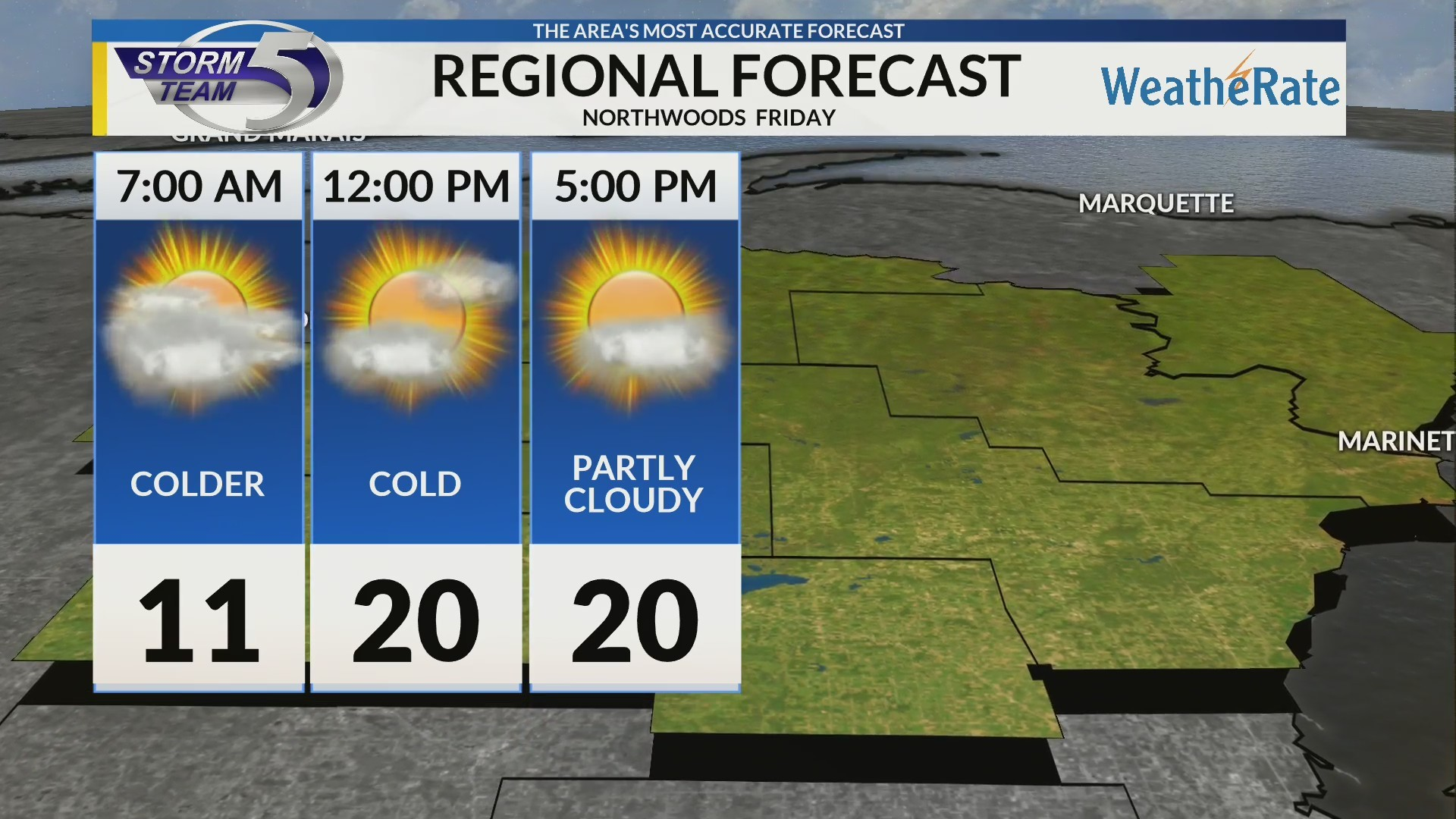 Regional Forecast: Northwoods 2/15/2019