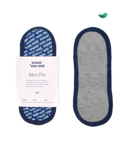 Wear 'em Our Light Grey reusable Period Sanitary Pads