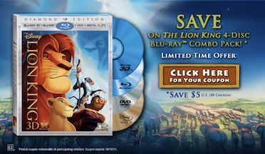 THE LION KING Diamond Edition Presides Over Blu Ray Today