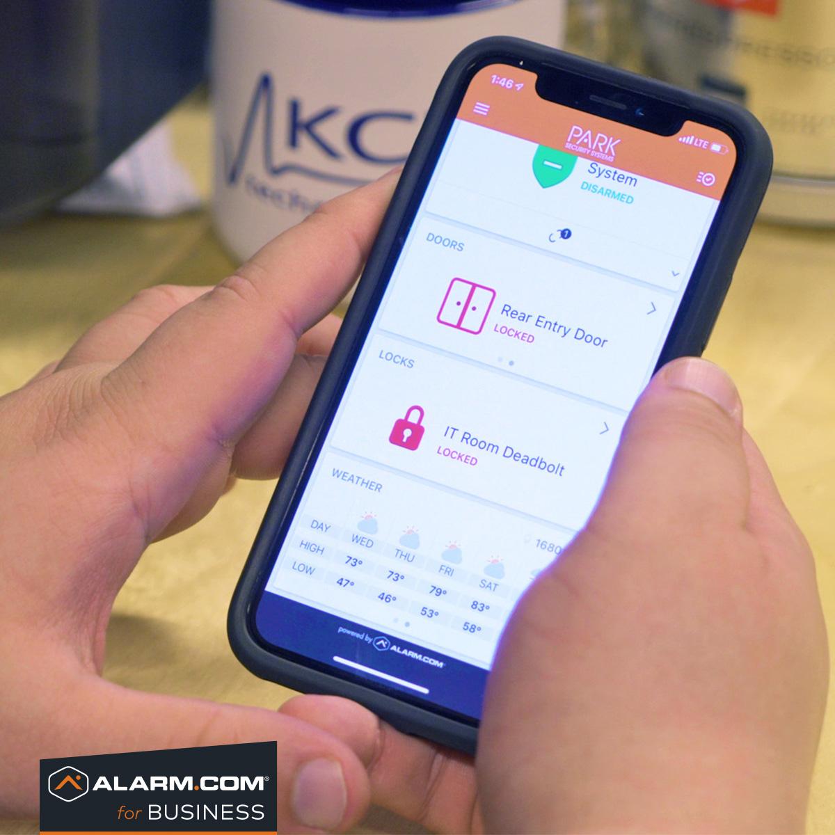 alarm.com access control app