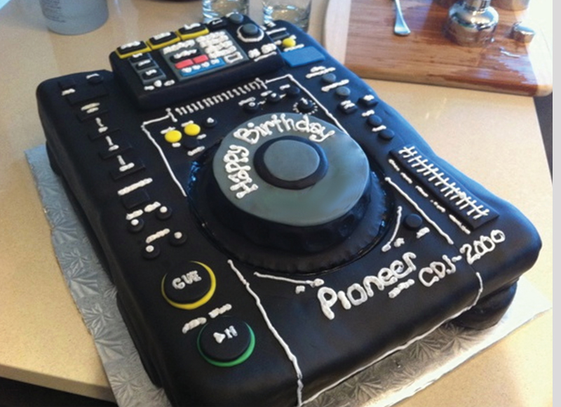 Cdj Cake Dj Birthday Decks Pioneer