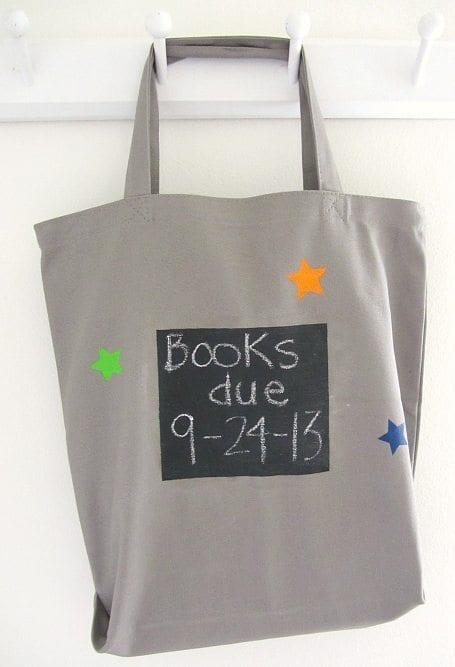 chalkboard-paint-book-bag-