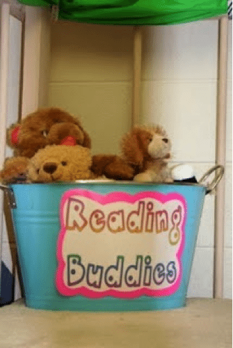 have 'reading buddies' (stuffed animals) on hand for your kids