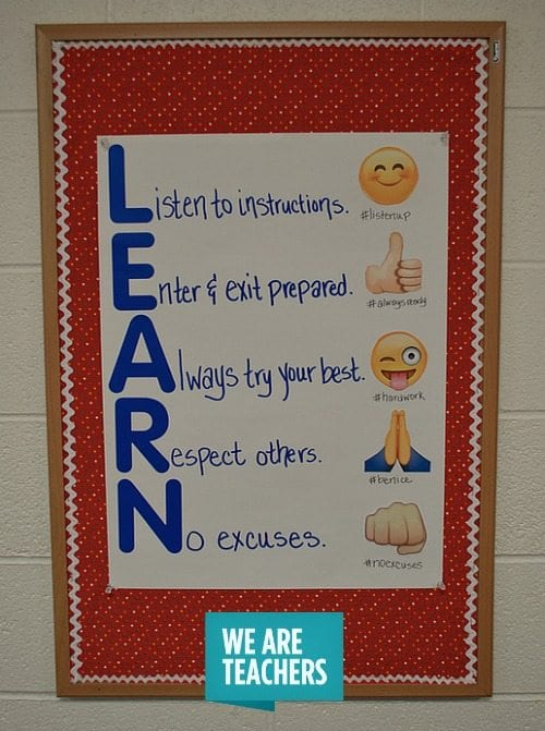 Classroom Decoration For Teachers Day ~ Classroom management anchor charts weareteachers