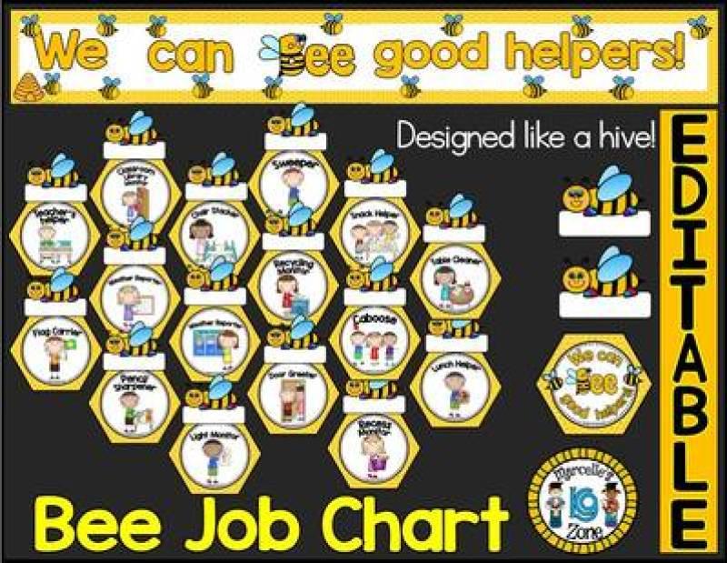 Classroom Theme Ideas Bees ~ Flexible fun and free classroom job chart ideas