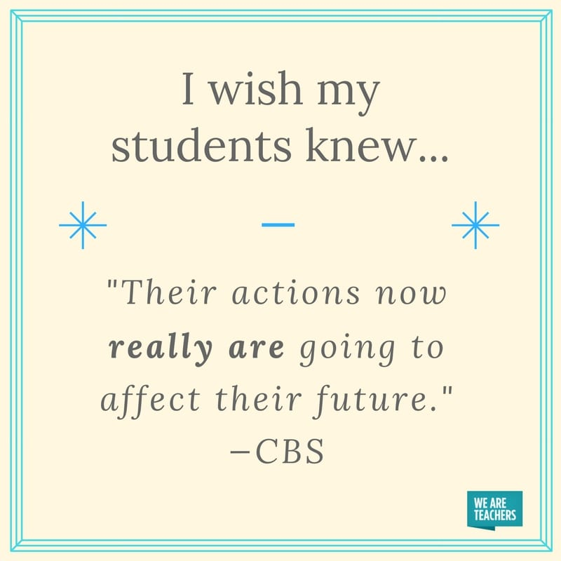 I Wish My Students Knew
