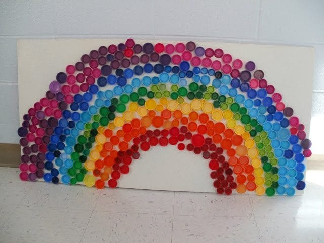recycled drink top rainbow project