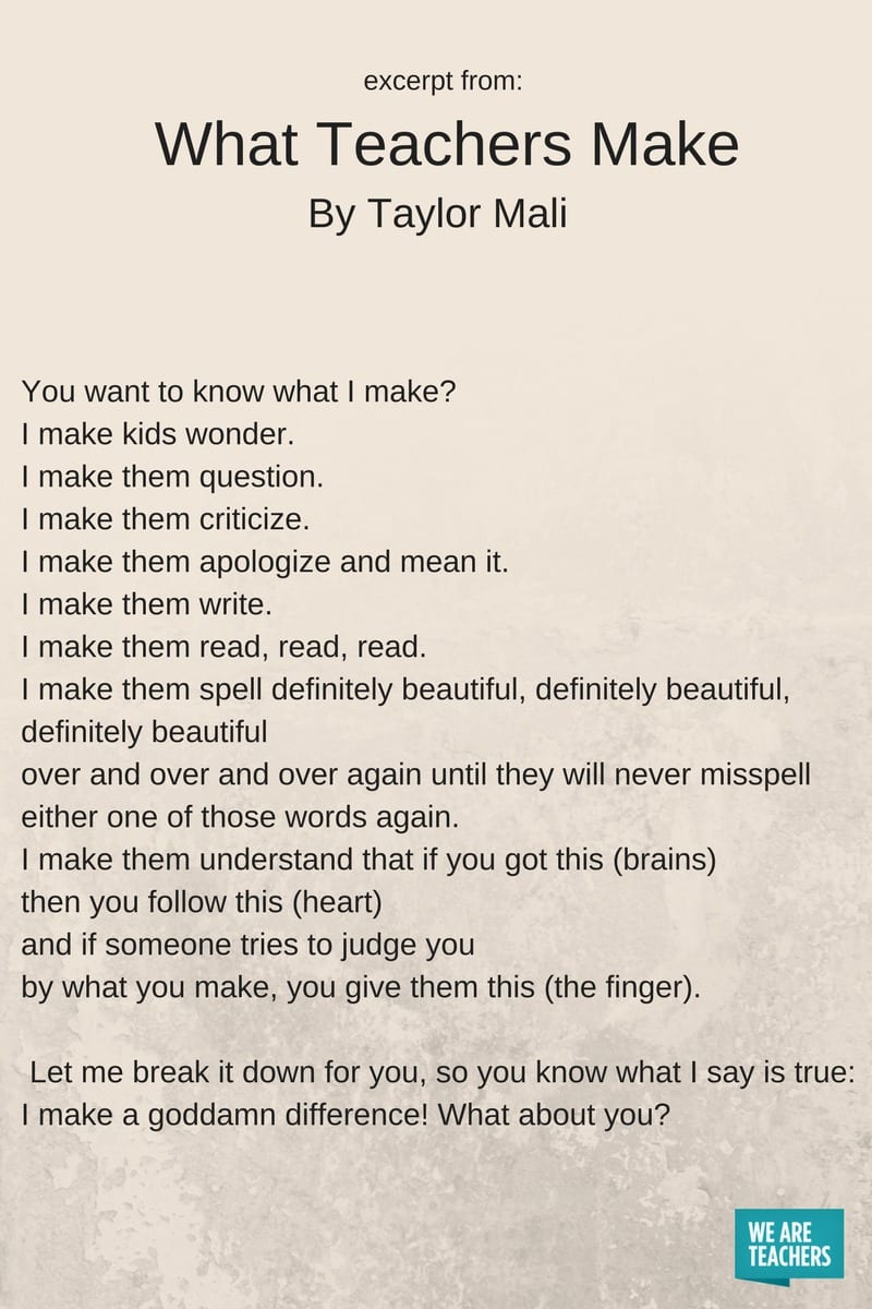 10 of Our Favorite Poems About Teaching - WeAreTeachers