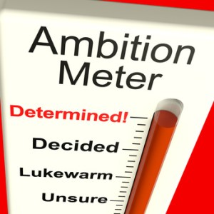 Ambition Meter Showing Motivation And Drive