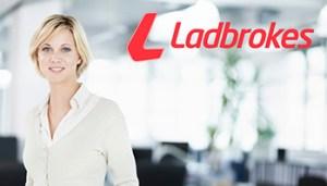 Ladbrokes-logo and woman