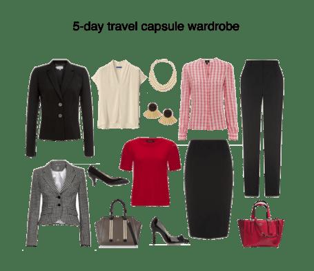 Capsule Wardrobe - 5 day travel