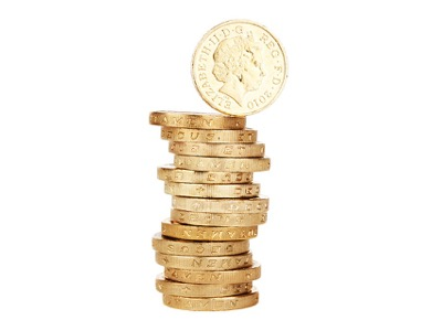 pile of pound coins, money, earn featured