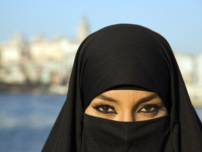 woman wearing a burka featured