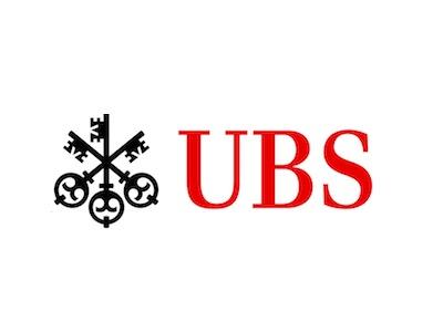 UBS logo Black Logo, Red writing