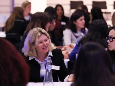 Margarete McGrath takes part in the speed mentoring session