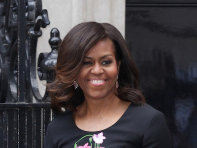 Michelle Obama outside No 10 Downing Street